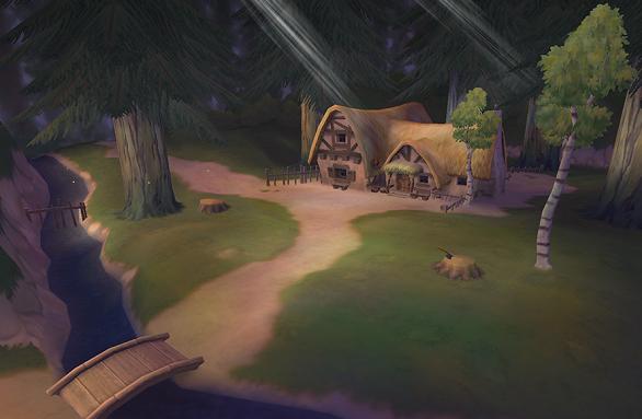 La casa de los siete enanitos disney wiki - Casitas en el bosque ...