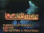 CBS-TV's Logan's Run Video Promo For Tuesday Night, September 6, 1977