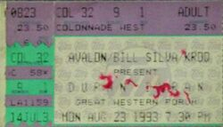 The Great Western Forum, Los Angeles, CA, USA ticket wikipedia duran duran courtesy of MissNovemberTuesday facebook devoted duranie