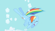 RainbowDash KickingCloud