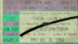 Great Western Forum, Los Angeles, CA, USA. wikipedia MissNovemberTuesday ticket stub devoted duranie facebook duran duran