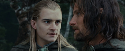 Legolas talking to Aragorn - FOTR