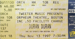 Orpheum Theatre, Boston wikipedia duran duran