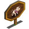 Luau Cow Mastery Sign-icon