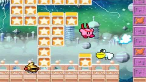 Kirby Super Star Ultra - Revenge Of The King - Stage 3 Crash Clouds