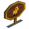Golden Mini Stallion Foal Mastery Sign-icon