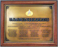 Franklin Mint Enterprise-D Dedication Plaque