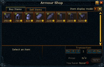 Armour Shop stock