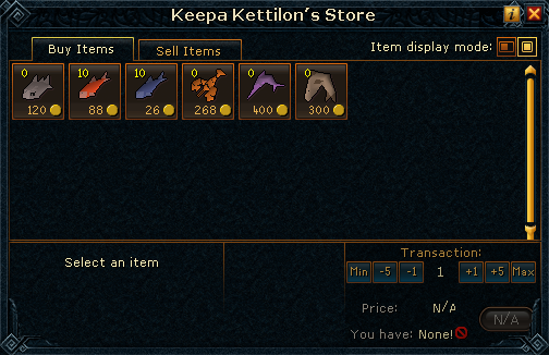 Keepa Kettilon's Store stock