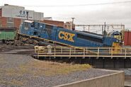 Wrecked CSX SD80MAC 2