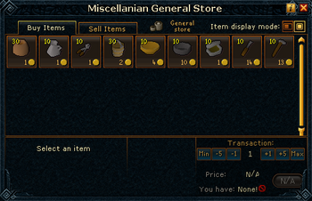 Miscellanian General Store stock