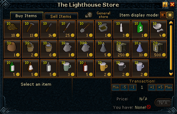 The Lighthouse Store stock