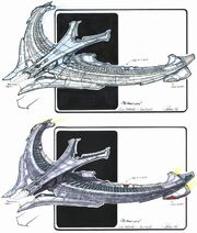 Son'a battle cruiser finalized May 1998 design concepts by John Eaves