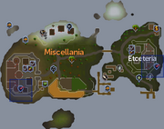 Miscellania and Etceteria Dungeon location