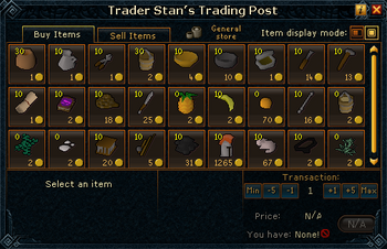Trader Stan's Trading Post stock