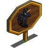 Black Mini Unicorn Mastery Sign-icon