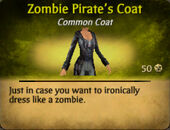 Pirate zombie coat female