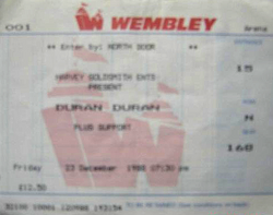 Wembley arena wikipedia ticket stub duran duran