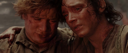 Frodo and Sam at Mt Doom