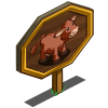 Red Poll Cow Mastery Sign-icon