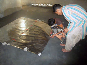 Para bolic solar cooker remaking school students (5)