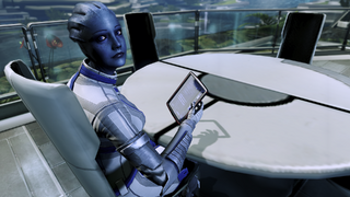 Citadel - liara slacking off