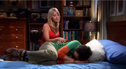 Penny comforts Sheldon
