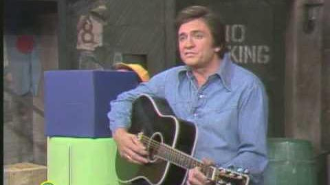 Sesame Street Johnny Cash And Biff Sing Five Feet High