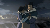 Korra and her parents hug