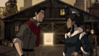 Korra and Mako arguing