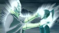 Aang restores Korra&#39;s bending