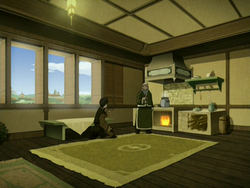 Iroh and Zuko's apartment's living room