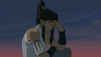 Korra crying