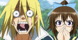 Akune's and Kikaijima's reactions to Medaka's confession