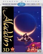 Aladdin Diamond Edition Blu-ray 3D + 2D + DVD + Digital Copy