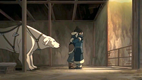 Korra and Katara hug