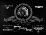 Metro Goldwyn Mayer Logo 1926