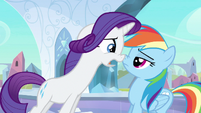 Rarity &amp; Rainbow Dash nose to nose S3E1