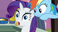 Rarity shocked by Rainbow&#39;s news S3E2