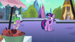 Spike running up to Twilight S3E2