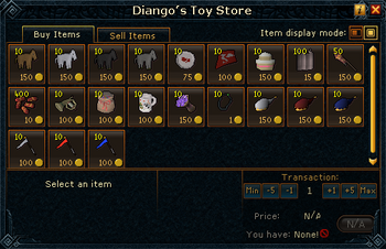 Diango's Toy Store stock