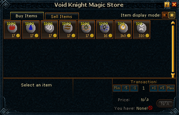 Void Knight Magic Store stock