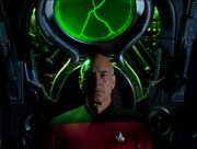 Picard in Borg alcove