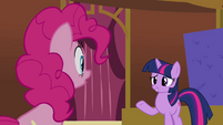 Twilight 'You're the only Pinkie who kept staring at the wall' S3E3