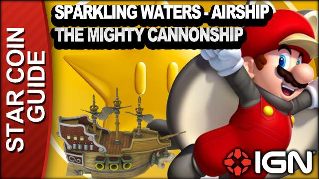 New Super Mario Bros. U 3 Star Coin Walkthrough - Soda Jungle-Airship The Mighty Cannonship