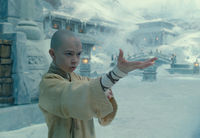 Film - Aang prepares to waterbend