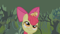 Apple Bloom thinks about what Applejack just said S1E09