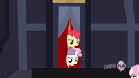 Apple Bloom and Sweetie Belle&#39;s heads S3E4