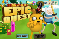 Finn and Jake's epic quest title screen