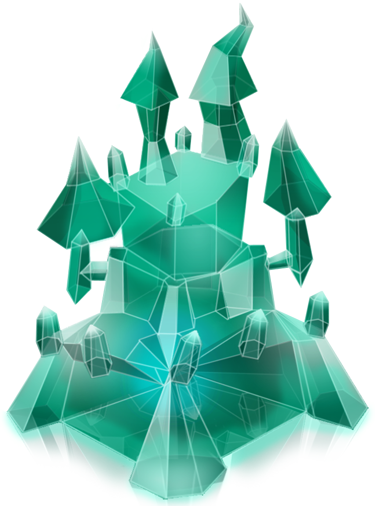 crystal castle although shaped like a castle this mysterious structure